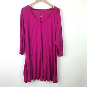 Lane Bryant magenta blouse size 26/28